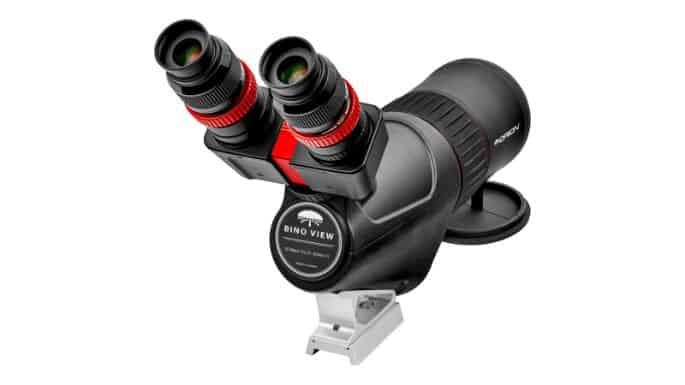 Close Up Of Eyepieces On Orion Binocular Spotting Scope