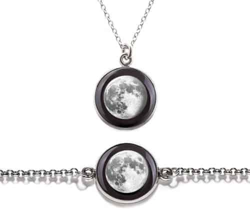 Moon Phase Necklace Gift Set